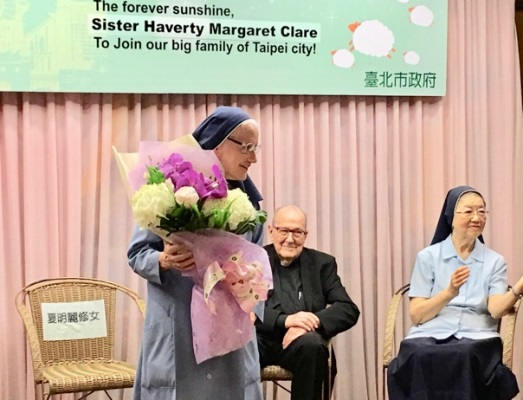Sister is honoured by the Taiwan government
